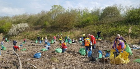CRG volunteers hard at work at Lamby Way