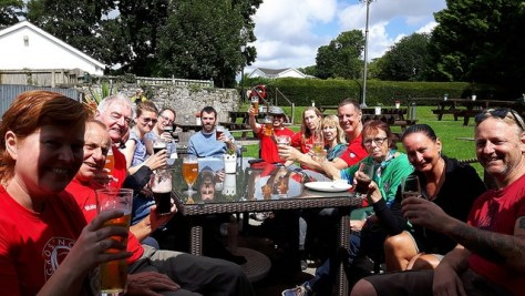 CRG volunteers at the pub after the event