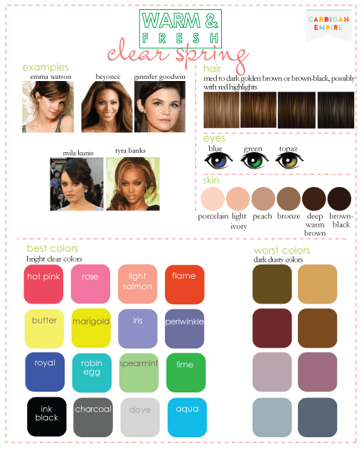 color seasons complexion clear spring