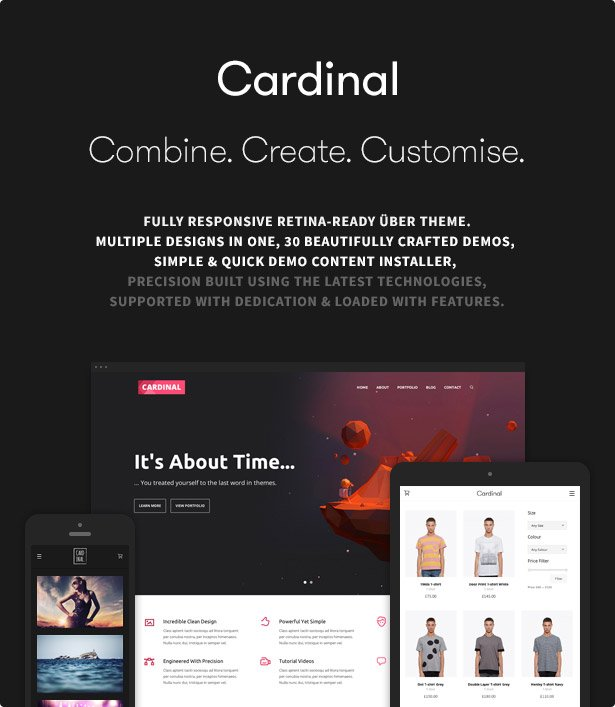 Cardinal - WordPress Theme - 1