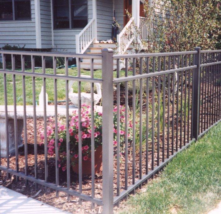4 Bronze Aluminum Fence Cardinal Fence Amp Supply Inc