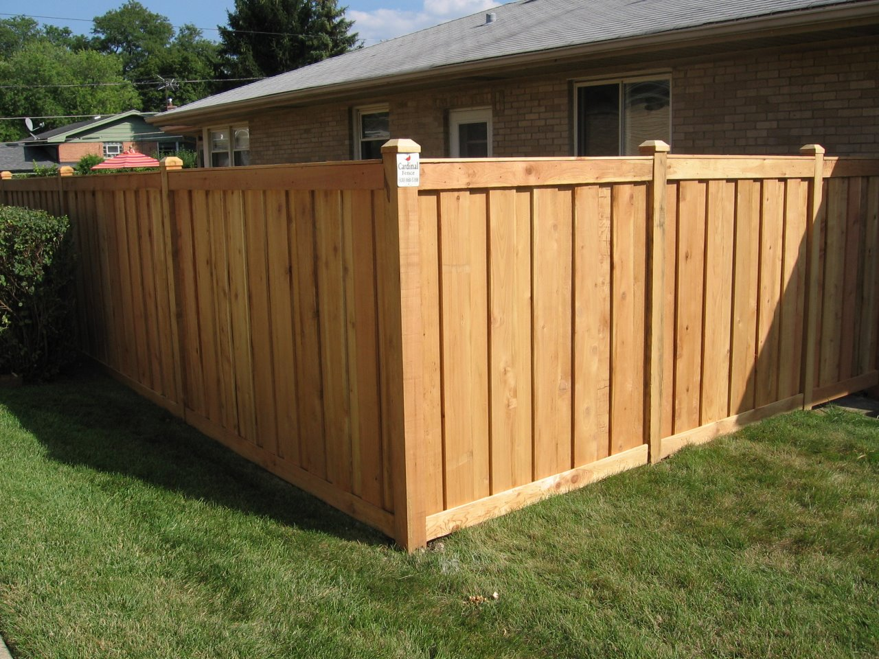Cedar Fencing From Cardinal Fence And Supply In Bensenville