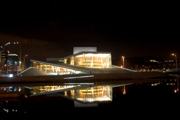 Oslo Opera by night.