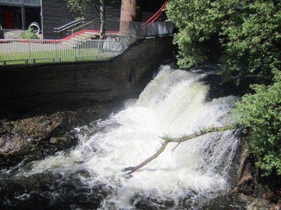 One of many small waterfalls in Akerselva - the river that divides Oslo.