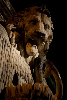Grenoble, France: lion de Saint-Laurent, Fontaine au lion, by ; Victor Sappey