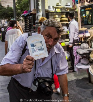 Street photographer in Jerusalem.