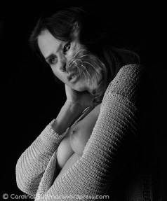Pamela as kitty.