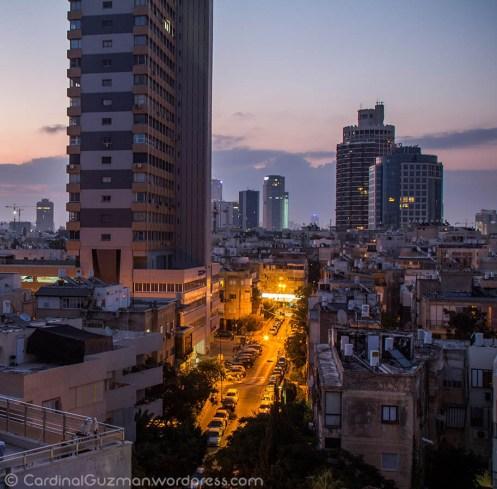 Tel Aviv nightscape.