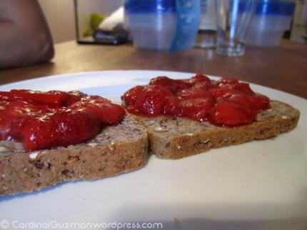 Enjoy your homemade jam.
