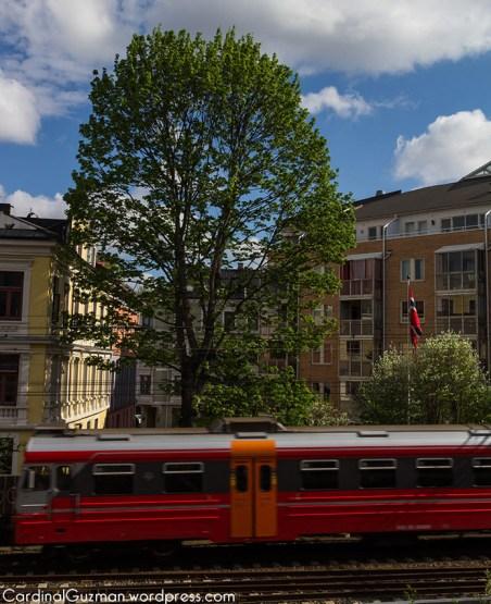 Train in Gamlebyen, Oslo.