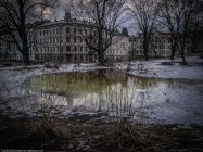 A frozen pond at St. Hanshaugen.