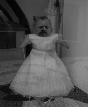 Self-portrait as baby doll.
