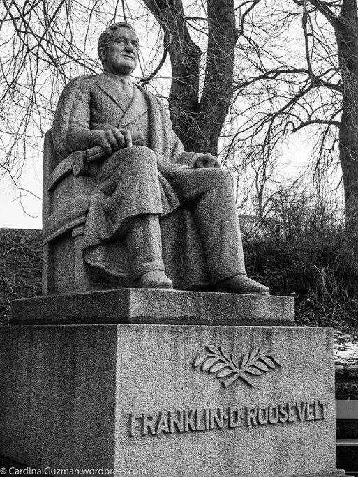 March: Statue of Franklin D Roosevelt