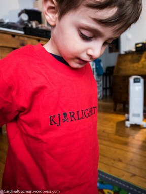 My son modelling for my spreadshirt shop (see link at the bottom of this post).