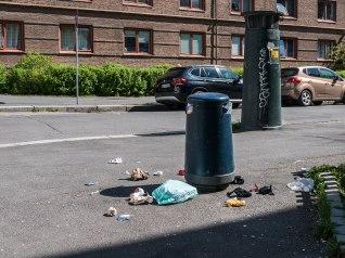 Garbage at Grønland, Oslo.