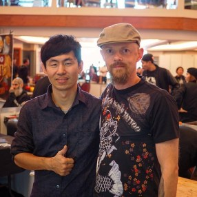 With the super-talented George. 梵天慶 -Funtian Tattoo in Taiwan.