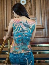 Jenna Huang, IG @jenna.taiwantattoo, tattooed by her husband 梵天慶, George Chou, funtiantattoo.