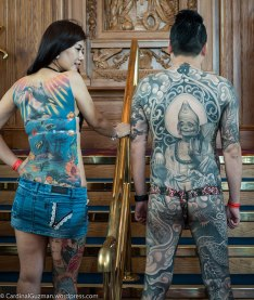 Both models tattooed by 梵天慶, George Chou, funtiantattoo.