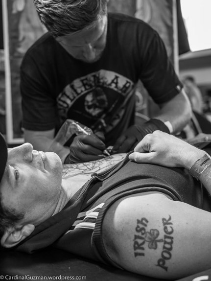 Danny O'Donoghue from The Script/The Voice UK getting tattooed by Remis Tattoo.