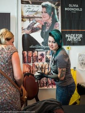 Olivia Ahonen / Olivia Moonchild, Twin City Tattoo, Suomi (Finland).