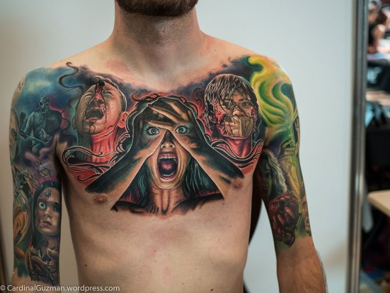 3days in a row and a total of 17hrs on this amazing chest piece by Julian Siebert from Corpsepainter Tattoo & Piercing.