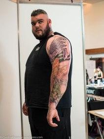 Ireland's Strongest Man Sean O'Hagan inked by Geoff Chapman (Tatt-Man-Do's).