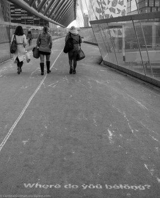 """""""Where do you betong?"""" Akrobaten Bro /bridge."""