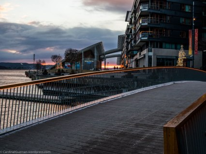 Astrup Fearnley Museum is seen in the background.