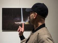 "The Samí photo artist Gjert Rognli at the Vernissage of his show ""Insomnulence""."