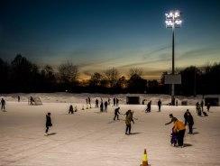 Ice skating at Frogner Stadion