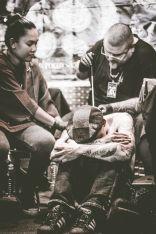 Getting a Buddhist bamboo tattoo from Ajarn Matthieu & Ajarn Rung. Photo: Sweaker SWKR