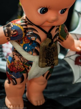 Doll decorated by Diau Cherng Tattoo