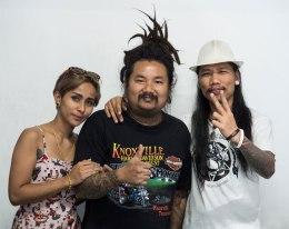 Mrs Peerapong (Chupchaeng), Mr Peerapong (Bank) & Tao Ozzfest.