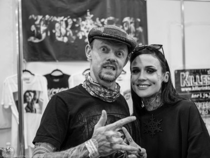 Max & Monami Frost at Milano Tattoo Convention. Photo: Unknown with my camera.