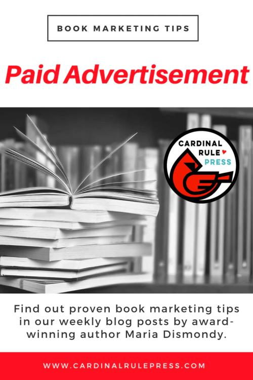 Marketing for Increasing Exposure Tip #20: Paid Advertisement - mariadismondy.com