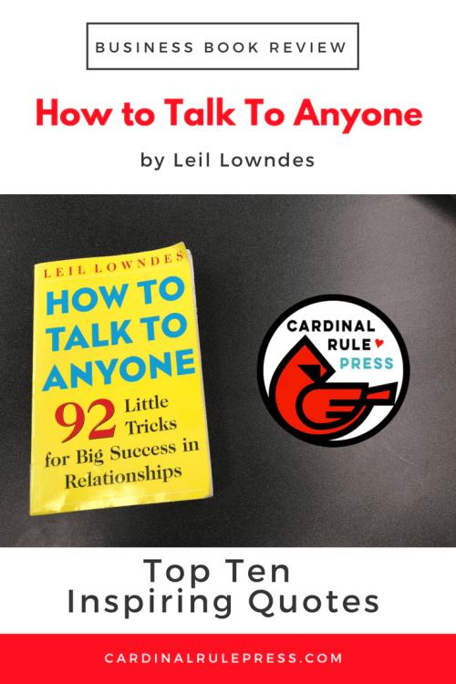 Business Book Review-How To Talk To Anyone - cardinalrulepress.com