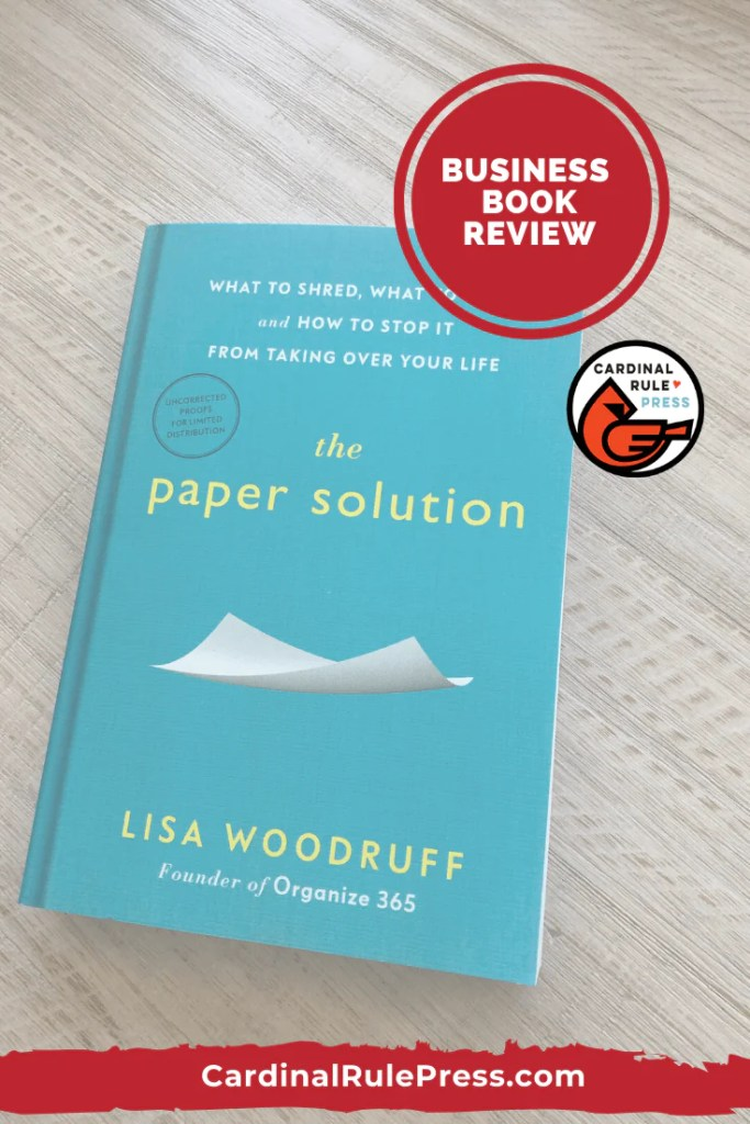 Business Book Review The Paper Solution