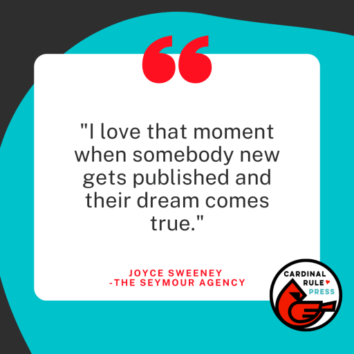 Literary Agent Interview Series {Joyce Sweeney - The Seymour Agency} Perfect for aspiring writers and authors who are looking to get published. Learn the inside scoop on what an agent looks for and more! #LiteraryAgent #InterviewSeries #GetPublished