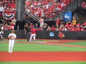 Lucas scores the first run!
