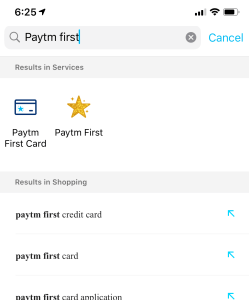 paytm first card application