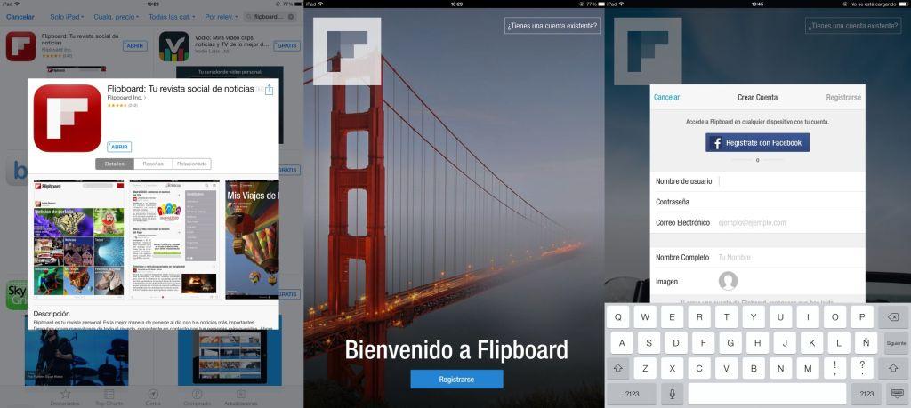 Primeros pasos con Flipboard: Instalar la App y crear una cuenta