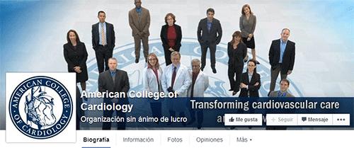 FanPagen en Facebook del American College
