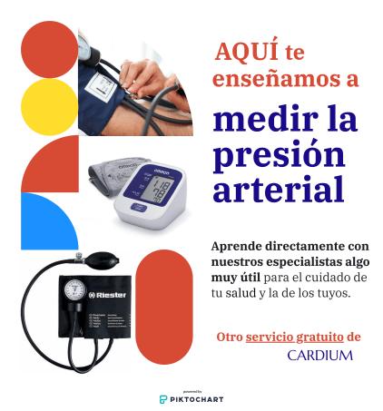 En CARDIUM te enseñamos a medir la presión arterial