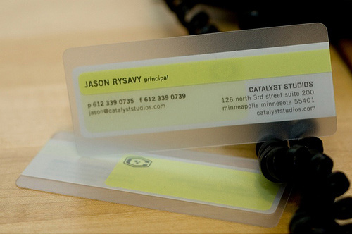 Unusual size Business Card Sample by Catalyst Studios