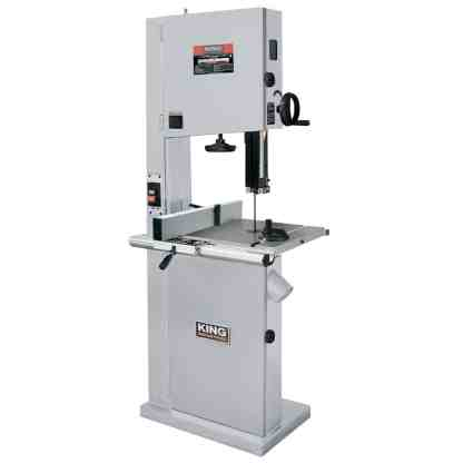 """King 21"""" Wood bandsaw WIth Resaw Guide"""