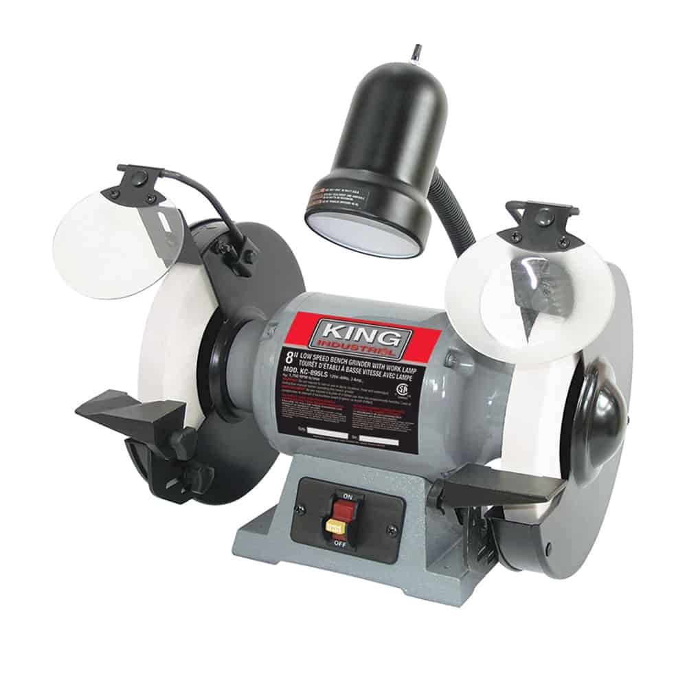 New King 8 Low Speed Bench Grinder With Light Kc 895ls