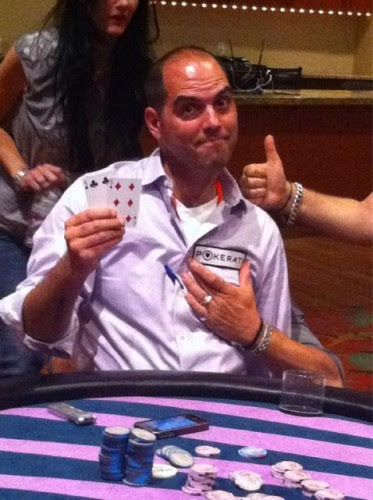 Dan Michalski playing poker
