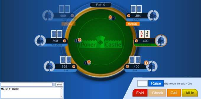 Poker Castle platform