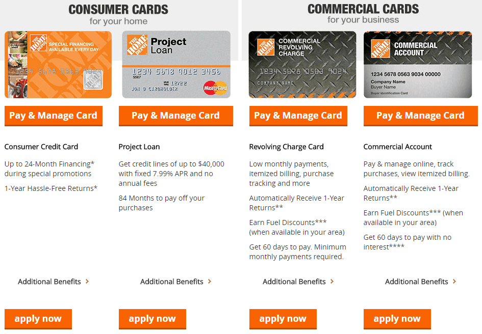 Home Depot Pay Credit Card