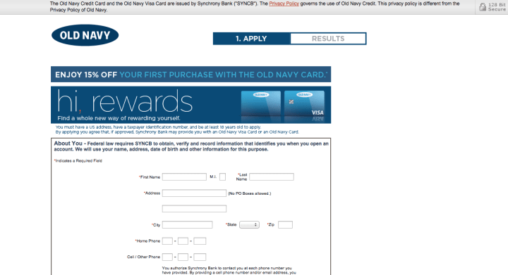 Old navy login page / Home dppot